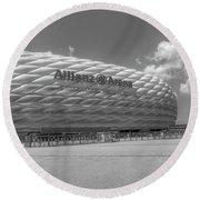 Allianz Arena Munich  Round Beach Towel
