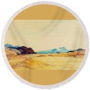 An Extensive Landscape  Round Beach Towel