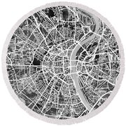 Cologne Germany City Map Round Beach Towel