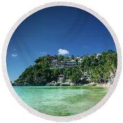 Diniwid Resort Beach View In Tropical Paradise Boracay Island Ph Round Beach Towel