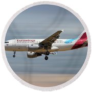 Eurowings Airbus A319-112 Round Beach Towel