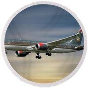 Royal Jordanian Boeing 787-8 Dreamliner Round Beach Towel