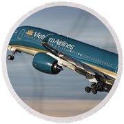 Vietnam Airlines Airbus A350 Round Beach Towel