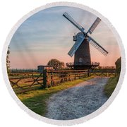 Wilton Windmill - England Round Beach Towel