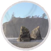 Ruby Beach Sunshine Round Beach Towel