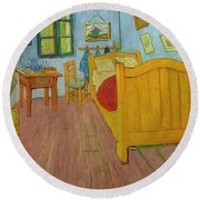 Bedroom In Arles Round Beach Towel