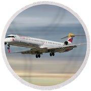 Iberia Regional Bombardier Crj-1000 Round Beach Towel