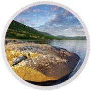 Loch Na Keal Round Beach Towel