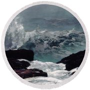 Maine Coast  Round Beach Towel