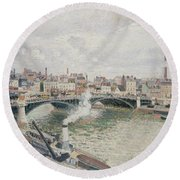 Morning  An Overcast Day  Rouen  Round Beach Towel