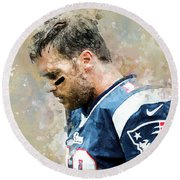 Tom Brady.new England Patriots. Round Beach Towel