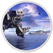 501st Mech Defender Round Beach Towel