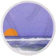 6-6-2009abcdefghijklmnopqrtuv Round Beach Towel