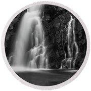Hepokongas Waterfall Round Beach Towel