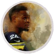 Le'veon Bell.pittsburgh Steelers. Round Beach Towel
