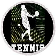 Tennis Player Tennis Racket I Love Tennis Ball Round Beach Towel