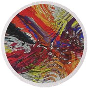 My Colorful World Series Round Beach Towel