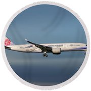 China Airlines Airbus A350-941 Round Beach Towel