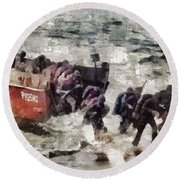 D Day Landings, Wwii Round Beach Towel