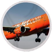 Easyjet 200th Airbus Livery Airbus A320-214 Round Beach Towel