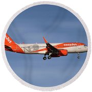 Easyjet Neo Livery Airbus A320-251n Round Beach Towel