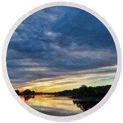 Danvers River Sunset Round Beach Towel