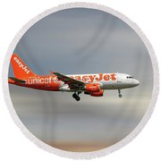 Easyjet Unicef Livery Airbus A319-111 Round Beach Towel