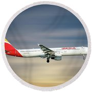 Iberia Airbus A321-212 Round Beach Towel