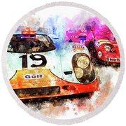 917 At Le Mans Round Beach Towel