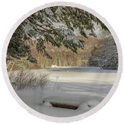 A Beautiful View Round Beach Towel by Rod Best
