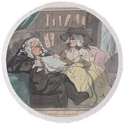 A Counselor's Opinion After He Had Retired From Practice After Thomas Rowlandson British, London 17 Round Beach Towel