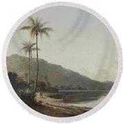 A Creek In Saint Thomas, Antilles, 1856 Round Beach Towel