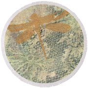 A Delicate Web Round Beach Towel