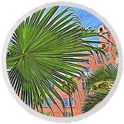 A Don Cesar Palm Frond Round Beach Towel