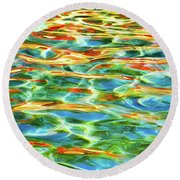 A Feast Of Colours Round Beach Towel