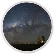 A Galactic View From The Observation Deck Round Beach Towel