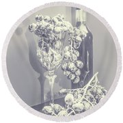 A Grape Gala Round Beach Towel