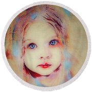 A Little Angel  Round Beach Towel