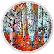 A Party In The Forest Round Beach Towel