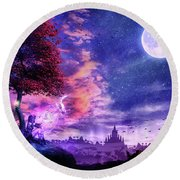 A Place For Fairy Tales Round Beach Towel