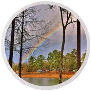 A Pot Of Gold On Lake Murray South Carolina Round Beach Towel by Lisa Wooten