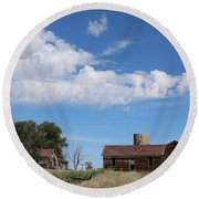 Abandoned Farm Round Beach Towel