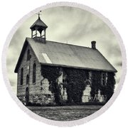 Abandoned Schoolhouse Round Beach Towel by Garvin Hunter