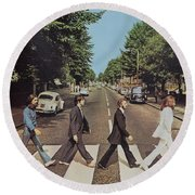 Abby Road Round Beach Towel