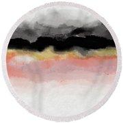 Abiding 1- Art By Linda Woods Round Beach Towel