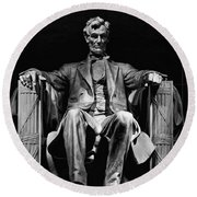Abraham Lincoln Round Beach Towel by Chris Lord