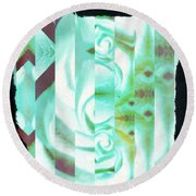 Abstract 089 Round Beach Towel by Marian Palucci-Lonzetta