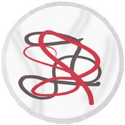 Abstract 730 Round Beach Towel by Marian Palucci-Lonzetta