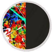 abstract composition K12 Round Beach Towel