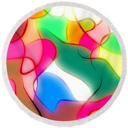 Abstract G1 Round Beach Towel
